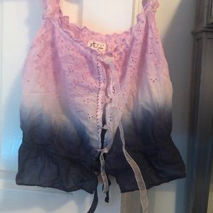 Free People Tank Lace Ombre